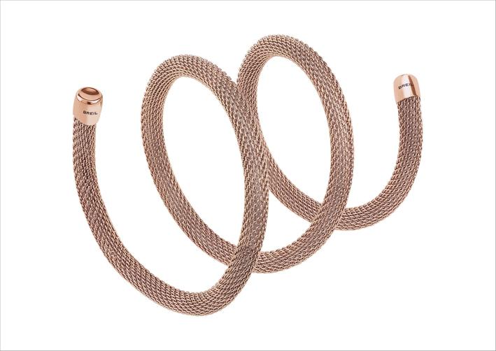 Bracciale Snake corto rosa