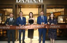 L'inaugurazione della boutique Damiani. Al centro, Paolo Cannavaro e Giorgio Damiani