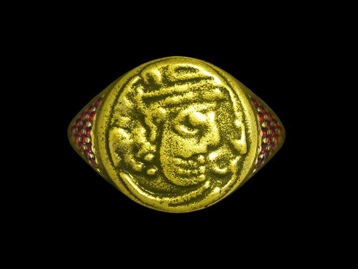Anunnaki Jewels, anello con moneta del periodo Sassanide, antico impero persiano