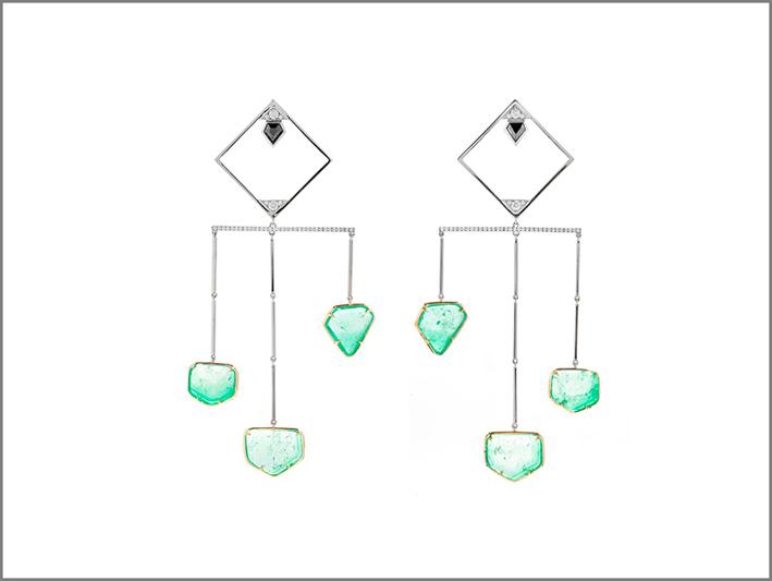 Orecchini chandelier di Ara Vartanian