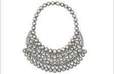 Amrapali, collana in oro 18 carati, argento sterling, diamanti e perle