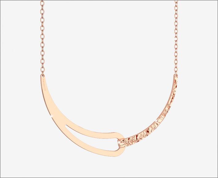 Rebecca, girocollo semi rigido color oro rosa