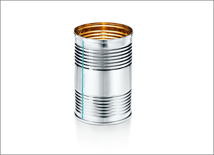 Lattina porta matite in argento e vermeil