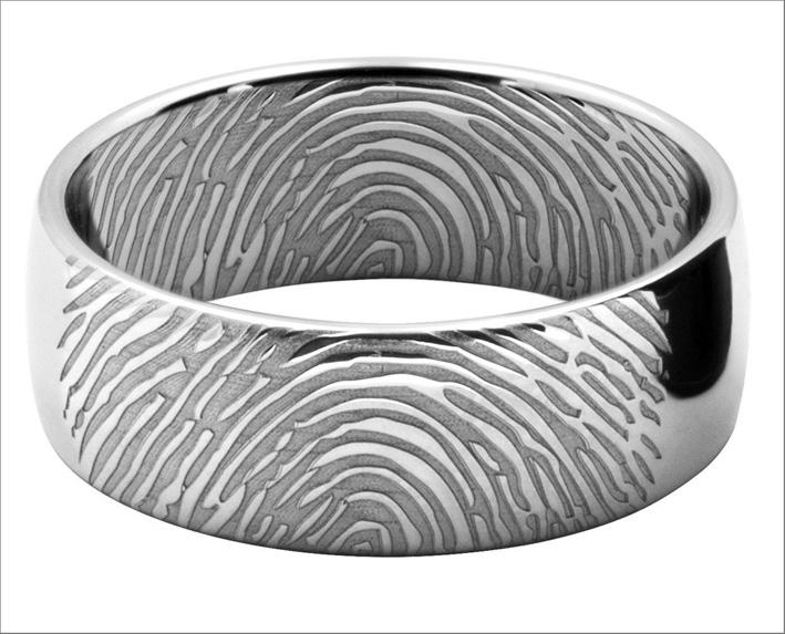 Lushwedds, anello con le impronte digitali