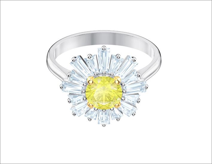 Anello con cristalli Swarovski
