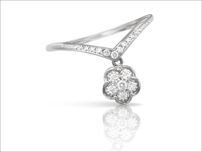 Pasquale Bruni, anello in oro bianco e diamanti