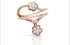 Anello in oro rosa e diamanti della collezione Fioremì