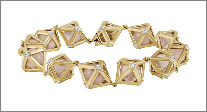 Bracciale Atelier Swarovski in oro, con diamanti e quarzo di laboratorio