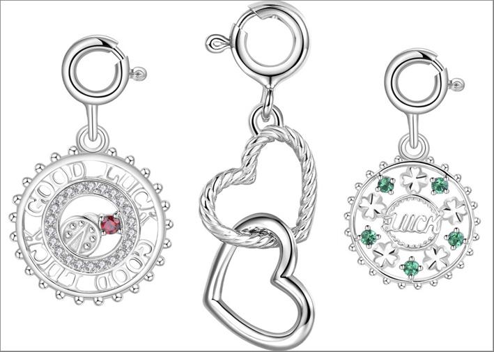 Rosato, ciondoli in argento della linea Details