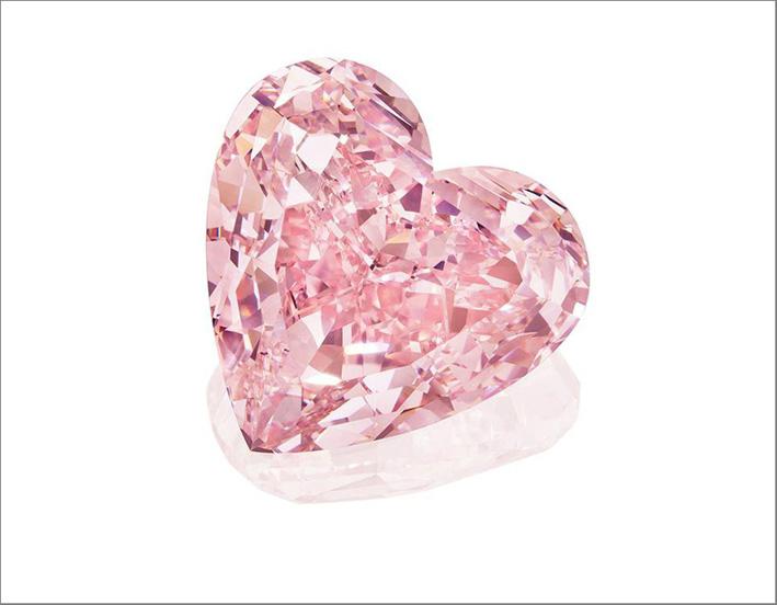 Diamante rosa di 15,56 carati taglio a cuore