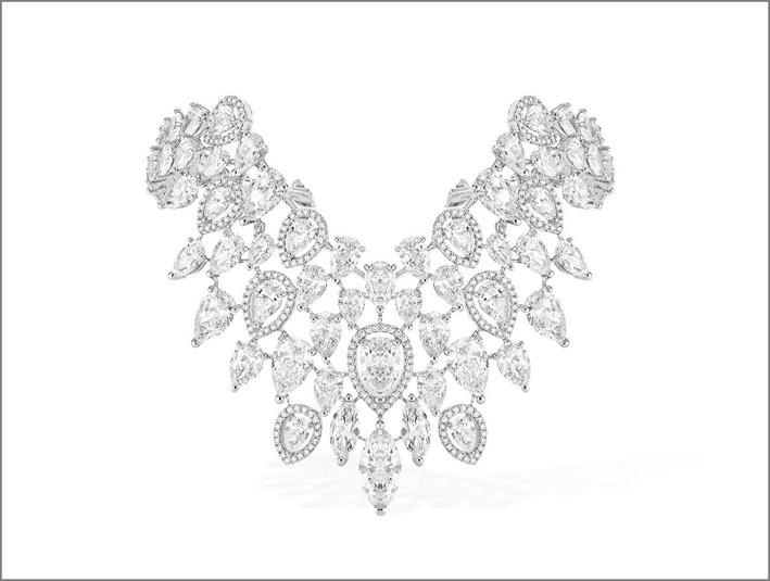 Bracciale Anni Ruggenti, oro bianco e diamanti