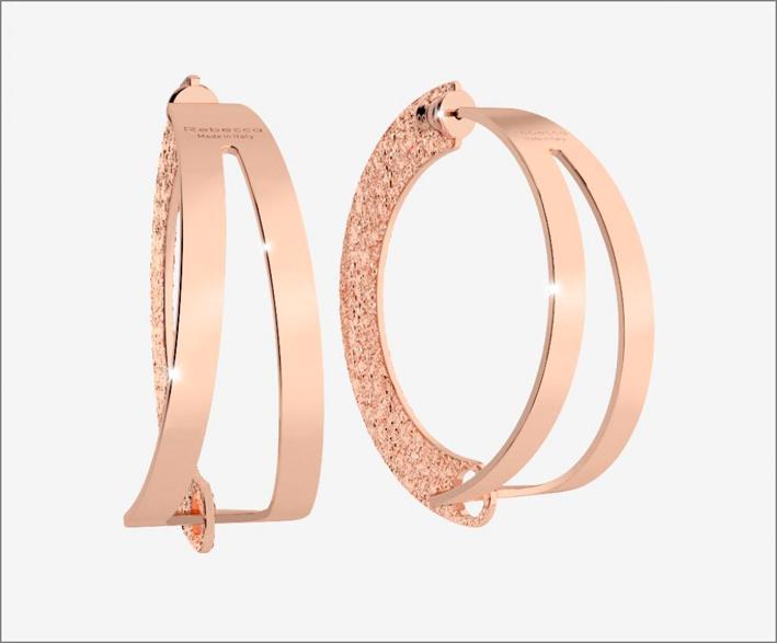 Rebecca, orecchini color oro rosa