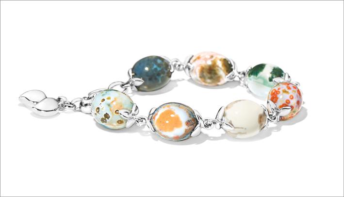 Bracciale in oro bianco della collezione Ocean Jasper