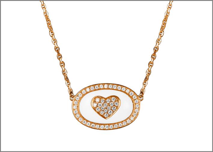 Collier in oro rosa e diamanti