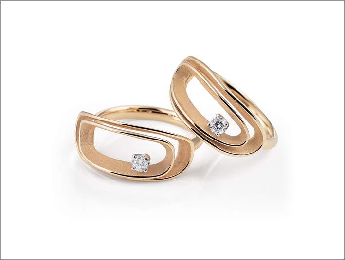 Annamaria Cammilli, anelli in oro Sunrise