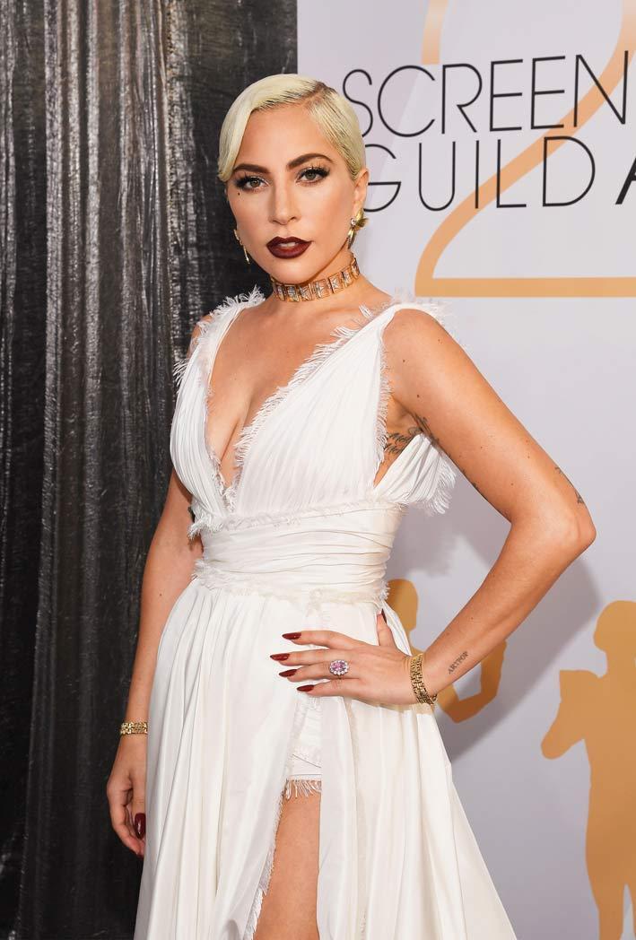 Lady Gaga con i gioielli di Tiffany