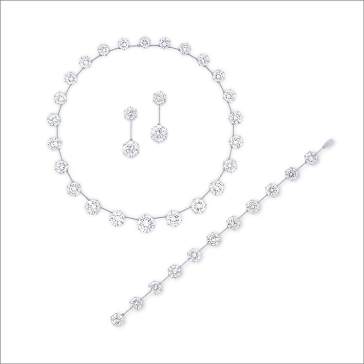 Suite di Gimel con diamanti bianchi
