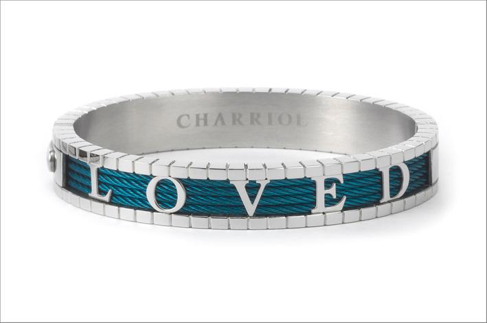 Bracciale Charriol con la scritta Loved