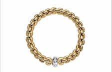 Fope, bracciale Eka Anniversary in oro e rondella di diamanti