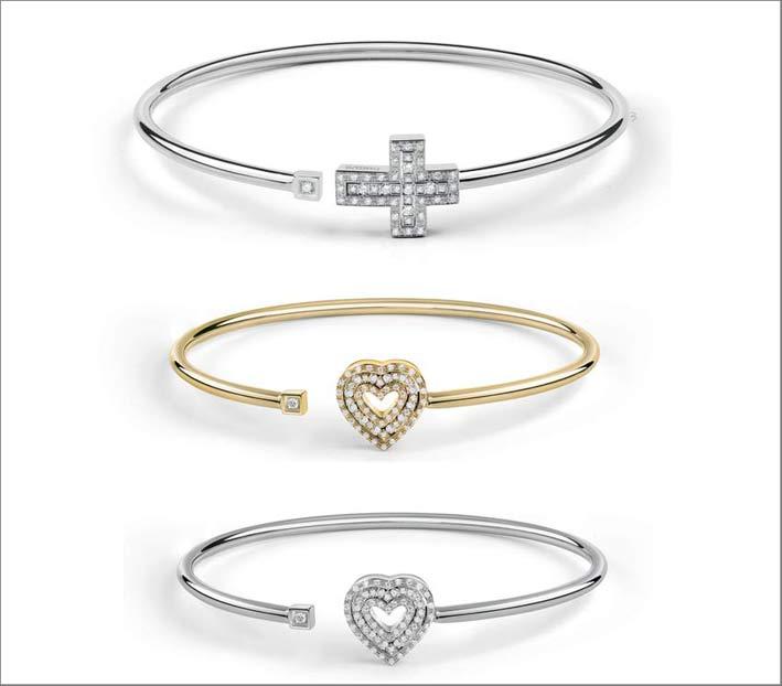 Damiani, bracciali in oro e diamanti