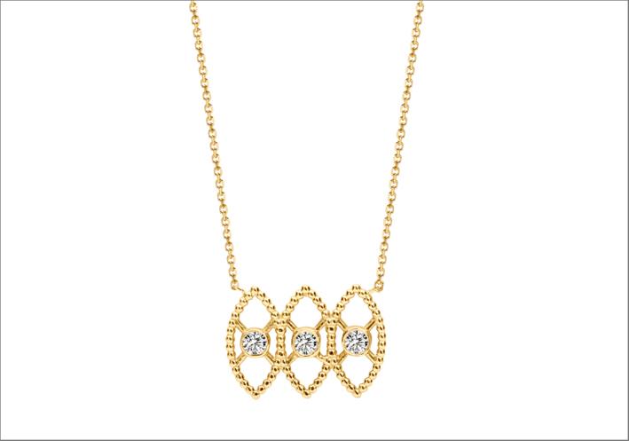 Collana in oro e diamanti sintetici di Kimai