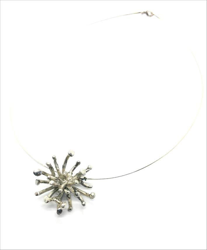 Collana Dandelion in argento