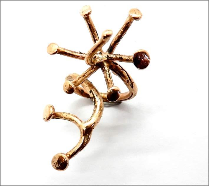 Anello Dandelion in bronzo