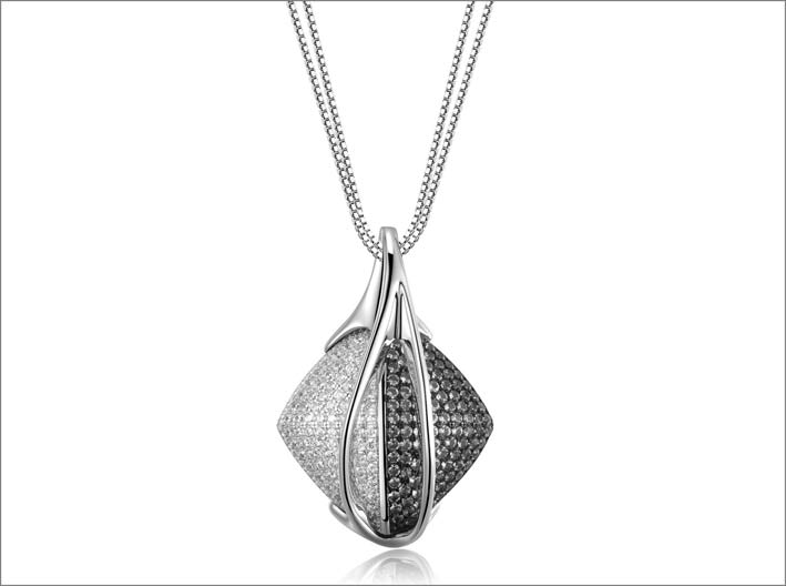 Pendente in argento e cubic zirconia