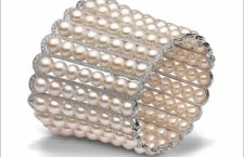 Yoko London, 8 x 6.5mm Akoya pearls, 4.38cts diamonds, set in 18ct white gold. Price on application