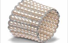 Yoko London, 8 x 6.5mm Akoya pearls, 4.38cts diamonds, set in 18ct white gold. Price on application