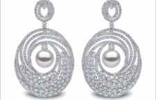 Yoko London, 10mm South Sea pearls, 10.10cts diamonds, set in 18ct white gold. Price on application