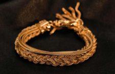 Bracciale in argento placcato oro 24 carati