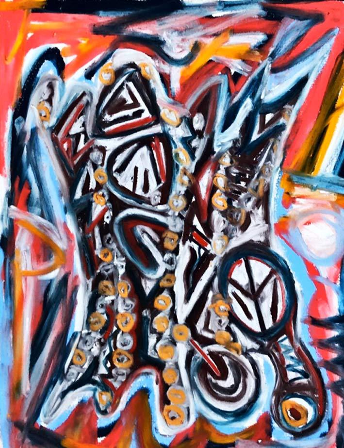 Rosti Romanoff, «Birch Trees», pastelli su carta