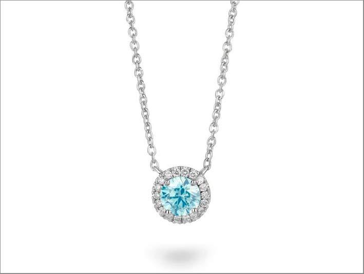 Pendente con diamante sviluppato in laboratorio Lightbox