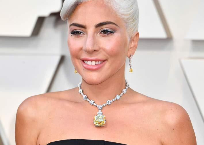 Lady Gaga con il Tiffany Diamond