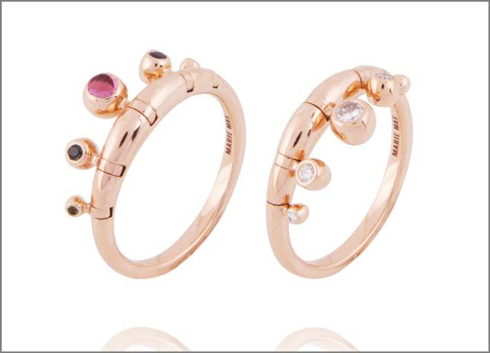 Swinging Pampille diamond ring di Marie Mas