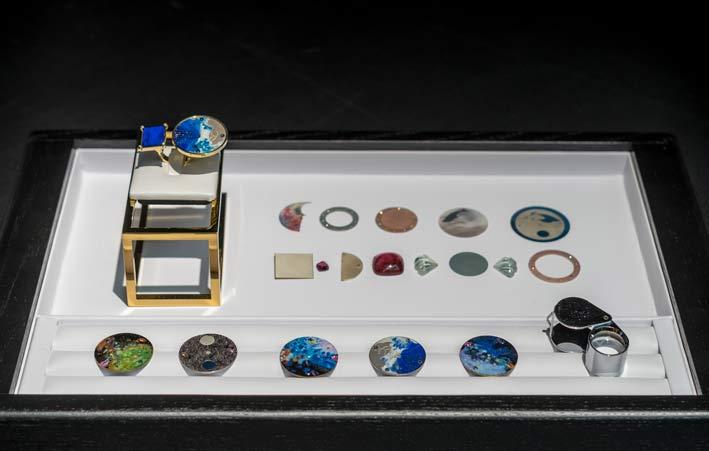 Alcuni degli elementi creati da Anna Maccieri per i suoi gioielli