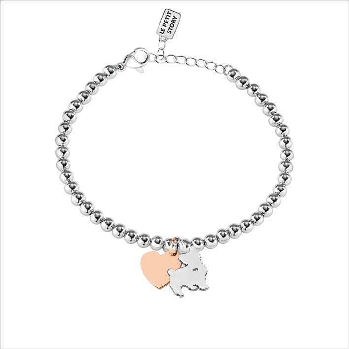 Dog & Kitty, bracciale con silhouette cane