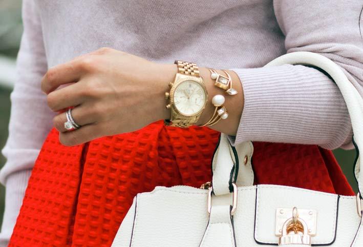 Orologio con semplici bracciali Ann Taylor
