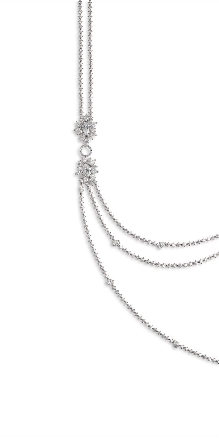 Collana di diamanti, dettaglio