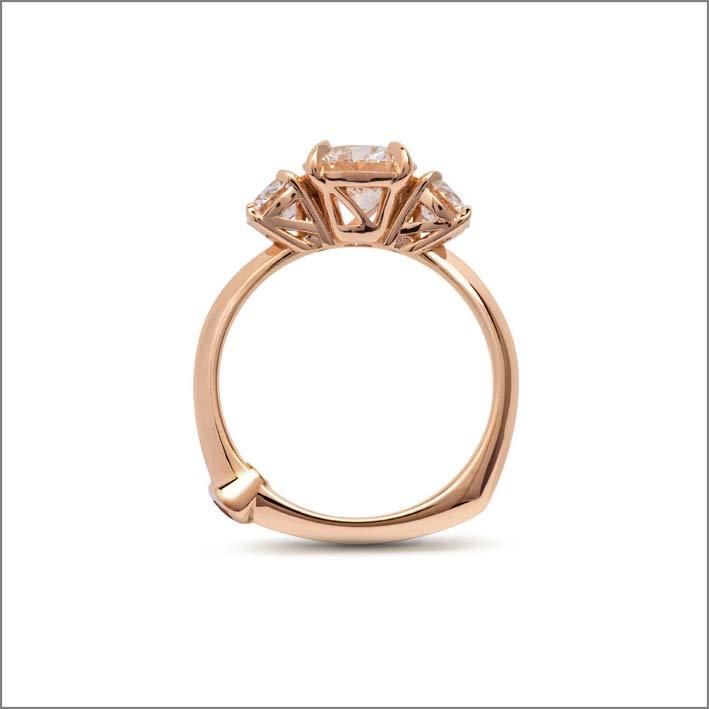 Anello della collezione Alessa per Diamond Foundry