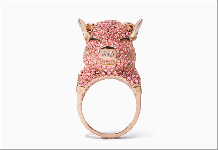Kate Spade, anello a forma di maiale