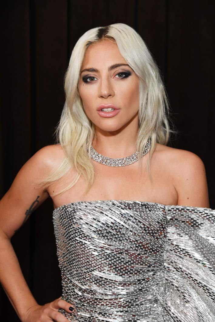 Lady Gaga con la collana di Tiffany