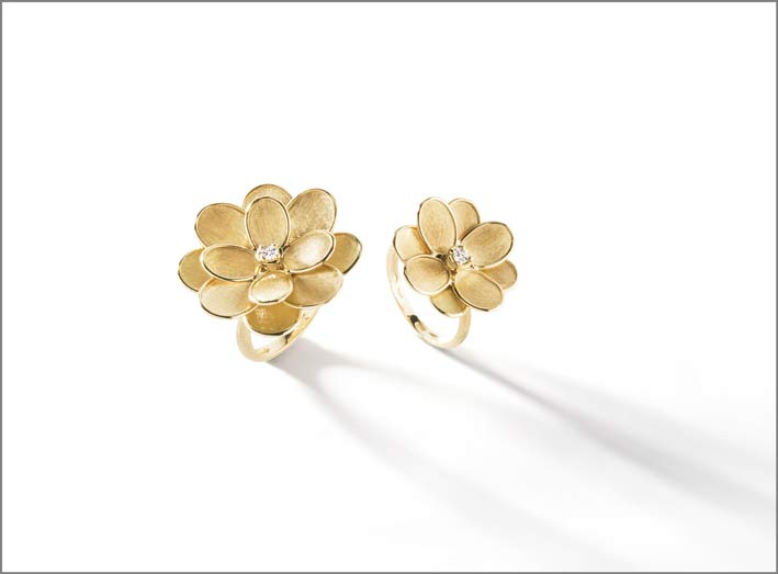 Anelli della collezione Lunaria Petali