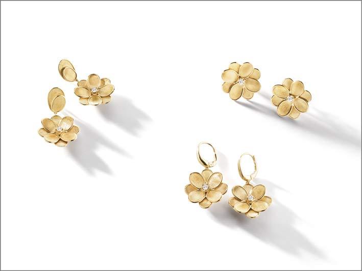 Orecchini della collezione Lunaria Petali