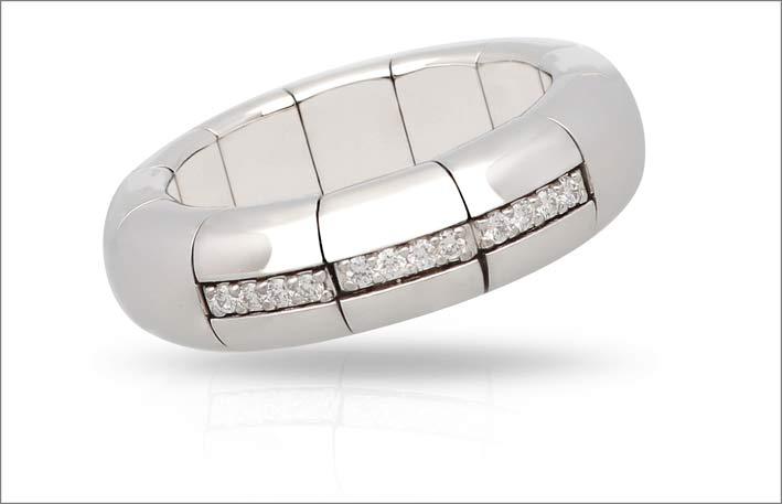 Roberto Demeglio, anello in oro bianco e diamanti
