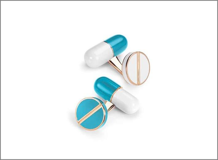 Orecchini a clip a forma di pillole