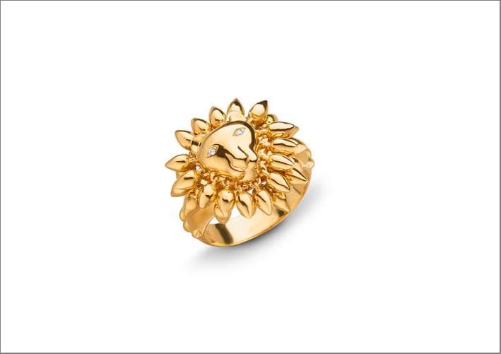 Anello in oro Courage Lion