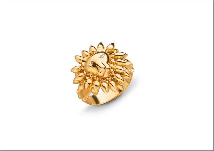 Anello in oro Courage Lion