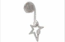 Collana con pendente in platino e diamanti